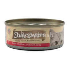 Daily Delight Skipjack Tuna White and Chicken with Shrimp Pure Cat Food
