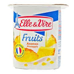 Elle & Vire Fruits Pineapple Yogurt