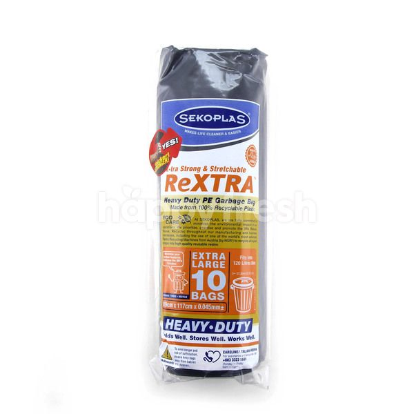 Sekoplas 89cm X 117cm X 0.045mm Heavy Duty Pe Garbage Bag