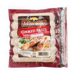 Johnsonville Cooked Brats Pork Sausage