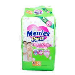 Merries Good Skin Baby Pants Size XL (38 pieces)