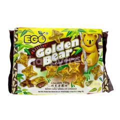 EGO Little Golden Bear Cream Filled Biscuits Chocolate Filling