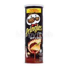 Pringles Potato Crisps Hot & Spicy