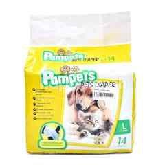 PAMPETS Pets Diaper L-15