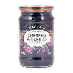 Mackays Cherries and Berries Preserve Jam