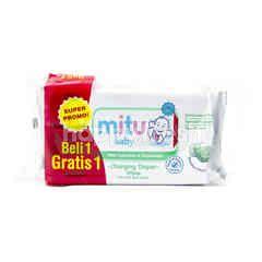 Mitu Baby Changing Diaper Wipes with Calendula & Chamomile