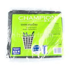 แชมป์เปี้ยน ถุงขยะ แบบมีหูผูก ขนาด 30 x 40 นิ้ว