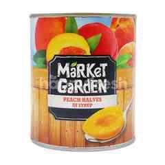 Market Garden Peach Halves In Syrup