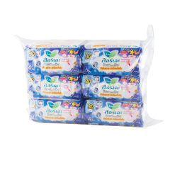 LAURIER Soft & Safe Night Wings 30 cm 4 Pcs. X 6 Pack (Sanitary Napkins)