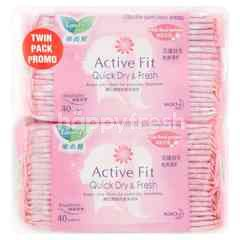 Laurier Active Fit Ultra Thin Pantiliners Twin Pack Fresh Floral Perfume (2 Pieces)