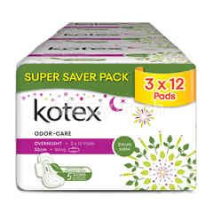 Kotex Natural Care Odor Care Overnight Wing
