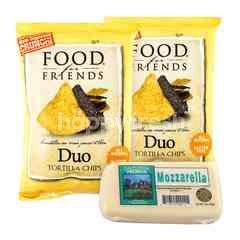 Food For Friends Duo Tortilla Chips and California Premium Mozzarella Block Cheese