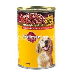 Pedigree Home Style Beef Chunks in Sauce Flavour Dog Food