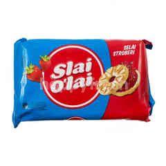Slai O'lai Biskuit Susu Selai Stroberi