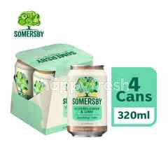 SOMERSBY Elderflower Lime Cider 4x320ml can