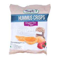 Simply 7 Hummus Crisps Roasted Red Pepper