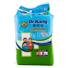 Dr. Kang Unisex Adult Diapers Size XL (8 pieces)