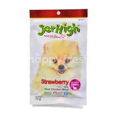Jerhigh Real Chicken Meat Stick - Strawberry