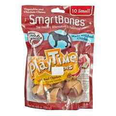SmartBones Playtime Chews Vegetable and Chicken Chews Small Stick