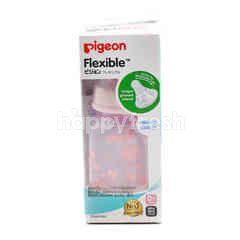 Pigeon Flexible Slim Neck Premium Clear Polypropylene (PP) Baby Bottle (Pink)