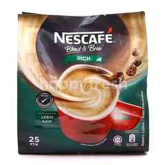 Nescafé Blend & Brew Rich Premix Coffee (25 Sticks)