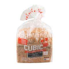 คิวบิค ขนมปังโฮลวีต ผสมเมล็ดลินินและข้ามโอ๊ตออร์แกนิค