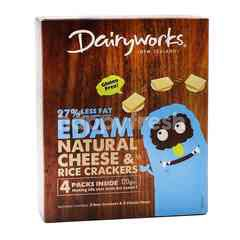 Dairyworks Edam Natural Cheese & Rice Crackers