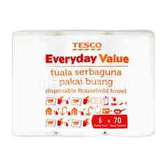 Tesco Everyday Value Disposable Household Towel (6 Rolls)