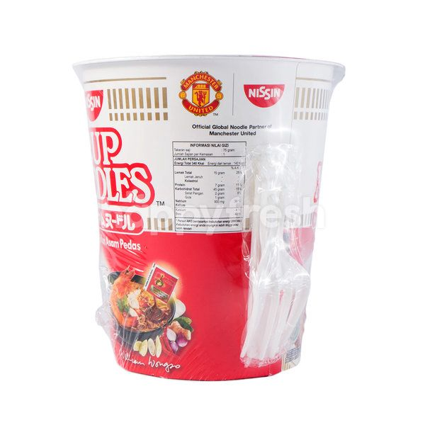 Nissin Cup Noodles with Tom Yum Sour Spicy Flavor