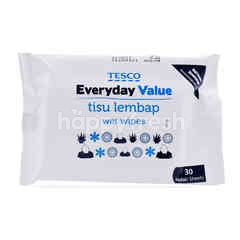 Tesco Everyday Value Wet Wipes (30 Sheets)