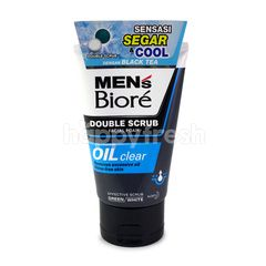 BIORE Men's Double Scrub Facial Foam Oil Clear