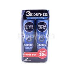 Nivea Men Cool Kick Deodorant Spray (2X150Ml)
