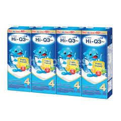 Hi-Q 3 Plus Prebio ProteQ UHT Milk Low Fat Plain Pack 180 ml X 4 Pcs