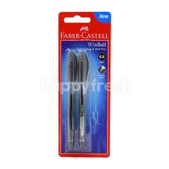 FABER CASTELL 0.5mm Black Super Smooth Ball Pen (2 Pieces)