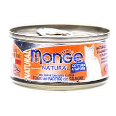 MONGE Natural Yellowfin Tuna With Salmon Flavoured Cat Food
