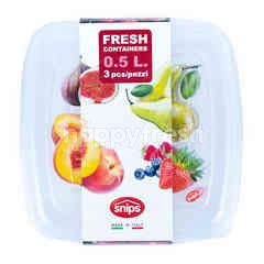 Snips Fresh Containers Square 0.5 Ltr