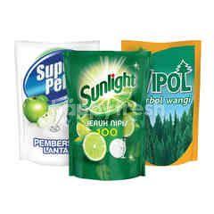 Unilever Sunlight, Super Pell, Wipol Ultimate Household Cleaning Kit 1