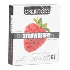 Okamoto Strawberry 53 mm Condom