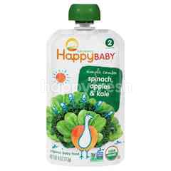 Happybaby Stage 2- Apples/Spinach/Kale (113g)