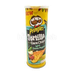 Pringles Spicy Green Pepper Tortilla Corn Chips 110g