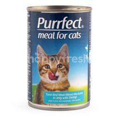 Purrfect Tuna Daging Merah Bercampur Makarel dalam Jely dengan Udang