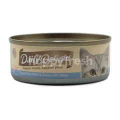 Daily Delight Skipjack Tuna White and Chicken with Salmon Pure Cat Food