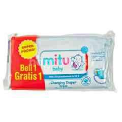 Mitu Baby Changing Diaper Wipes with Chrysanthemum & Vit E
