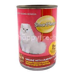 Smart Heart Sardine With Crabmeat In Jelly Canned Cat Food