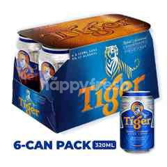 Tiger Lager Beer Cans 6x320ml
