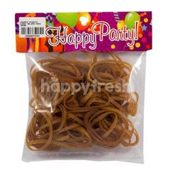 Happy Party Thick Rubber Bands
