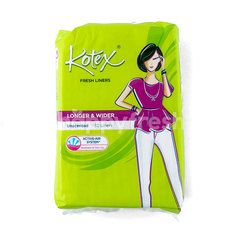 Kotex Fresh Liners Longer and Wider Unscented (32 pieces)