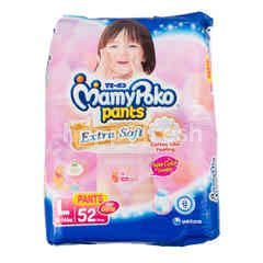 MamyPoko Extra Soft Baby Girls Pants Diapers Size L