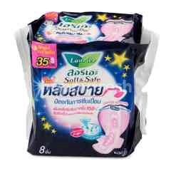 LAURIER Soft & Safe Night Wings 35 cm 8 Pcs. (Sanitary Napkins)