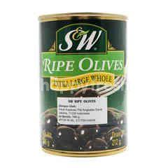 S&W Ripe Olives Extra Large Whole